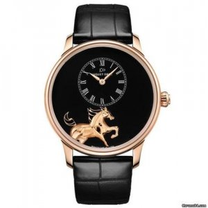 JAQUET DROZ [NEW][LIMITED EDITION 88 PIECE][全新限量88支]  PETITE HEURE MINUTE LOW RELIEF HORSE J005033201 (Retail:CHF 55000)