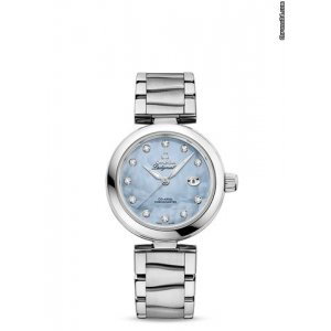 Omega [NEW] 42530342057003 De Ville Ladymatic Blue Pearl Diamonds (Retail:HK$64,600)