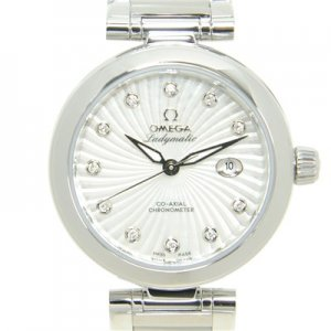 Omega [NEW] DeVille Ladymatic White Mother of Pearl Diamonds Watch 425.30.34.20.55.001 (Retail: HK$64,600)