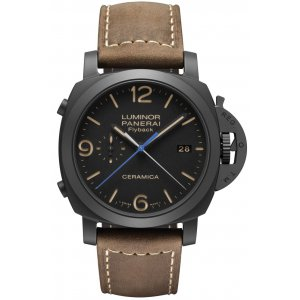 Panerai [NEW] Luminor 1950 3 Days Chrono Flyback Automatic Ceramica 44mm PAM 580 (Retail:HK$113,900)