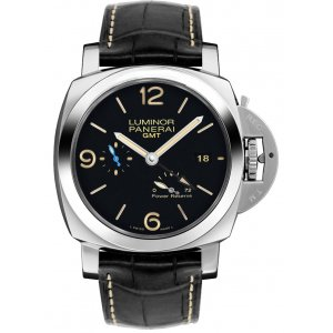 PANERAI [NEW] LUMINOR 1950 3 DAYS GMT POWER RESERVE AUTOMATIC ACCIAIO PAM 1321 (Retail:HK$68,300)