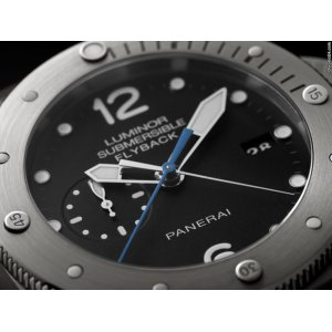 Panerai [NEW] PAM 614 Luminor Submersible Flyback Titanio (Retail:HK$119,300)