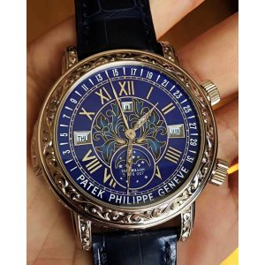 Patek Philippe [2015 NEW] Grand Complications Sky Moon Tourbillon 6002G Blue Dial Watch