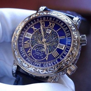 Patek Philippe [2018 NEW] Grand Complications Sky Moon Tourbillon 6002G Blue Dial