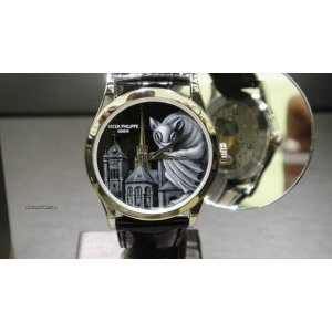 Patek Philippe [NEW & 4 PC ONLY] Enamel Dials St. Pierre Cathedral Geneve 5077P-100 - SOLD!!