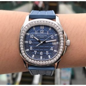 Patek Philippe [NEW] Aquanaut 5067A-025 Blue Arabic Diamond Bezel Ladies Watch