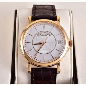 PATEK PHILIPPE [NEW] CALATRAVA ROSE GOLD SILVERY WHITE AUTOMATIC 5153R (Retail:HK$258,900)