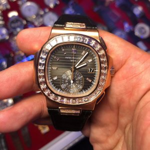 Patek Philippe [NEW] Nautilus Special Edition Rose Gold Diamond Baguette 5980/10R