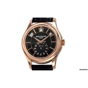 PATEK PHILIPPE [NEW] SA Complications 5205R-010 Rose Gold Black Dial (List Price: HK$359,000)