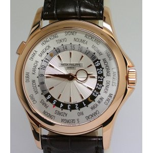 Patek Philippe [NEW] World Time 18K Rose Gold Watch 5130R (Retail:HK$329,300)