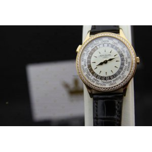 Patek Philippe [NEW] World Time 7130R-011 Ladies Rose Gold On Ivory Dial