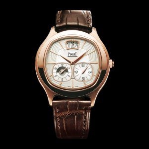 PIAGET [NEW] Emperador Coussin Dual Time Zone Pink Gold G0A32017 (Retail:US$29,300)