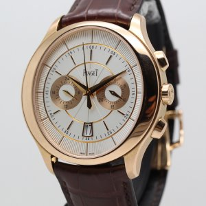 Piaget [NEW] Gouverneur Automatic Silver Dial Brown Leather Men's Watch G0A37112 (Retail:US$34,200)