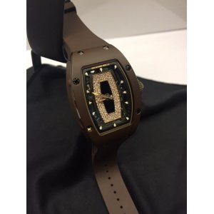 Richard Mille [2017 USED] RM 07-01 Ceramique Ladies TPZ-Z Brown Ceramic RM 7-01 (Retail:US$105,000)