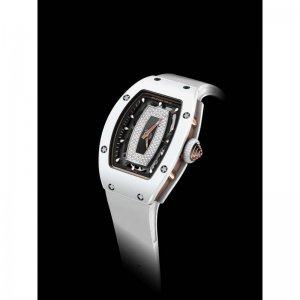 Richard Mille [NEW] Ladies RM 007 White Ceramic Black Lip