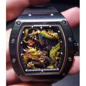 Richard Mille [NEW][LIMITED 5 PC] RM 057 Green Dragon Jackie Chan Brown Ceramic Watch - SOLD!!