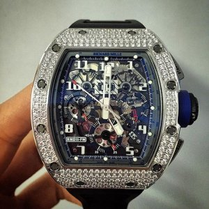 Richard Mille [NEW+LTD 70] RM 011 White Gold Diamond Asia Boutique Edition - SOLD!!
