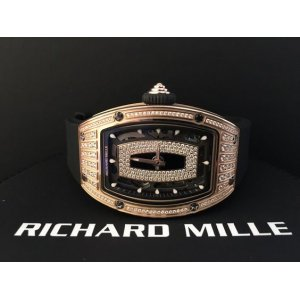 Richard Mille [NEW] RM 007 Rose Gold Med Set Diamond Ladies Watch