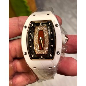 Richard Mille [NEW] RM 007 White Ceramic Jasper Dial Automatic Ladies Watch