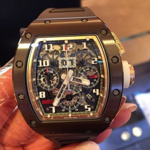 Richard Mille [NEW] RM 011 Asia Boutique Brown Ceramic Limited by Milleaholic Flyback Chronograph - SOLD!!