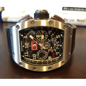 Richard Mille [NEW] RM 011 Felipe Massa Flyback Chronograph White Gold (Retail:US$140,000)