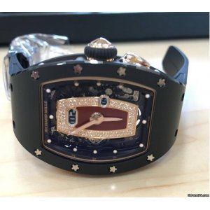 Richard Mille [NEW] RM 037 Ladies Automatic Black Ceramic with Rose Gold Red Lip (Retail:HK$1,017,000)