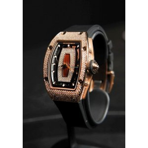 RICHARD MILLE [NEW] RM 07-01 LADIES AUTO ROSE GOLD DIAMOND (RETAIL: USD$ 175,000)