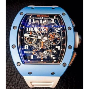 Richard Mille [USED][LTD] RM 011 Automatic Flyback Chronograph Blue Ceramic (Retail:US$160,000)