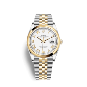 Rolex [NEW] Datejust 36mm Steel & Yellow Gold 126203 White Roman Jubilee (Retail:HK$86,500)