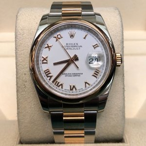 Rolex [NEW] Datejust 36mm Yellow Gold/Steel 126203 White Index Dial  Oyster Bracelet (Retail:HK$74,700)