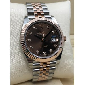 Rolex [NEW] Datejust 41mm 126331G Chocolate Diamond Jubilee Mens Watch