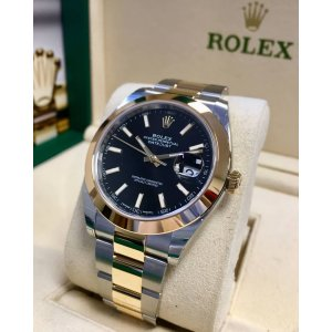 Rolex [NEW] Datejust 41mm Mens 126303 Black Index Oyster