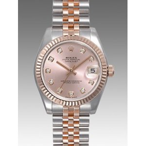 Rolex [NEW] Datejust Ladies 31mm Steel and Rose Gold 178271G Pink Diamond Jubilee