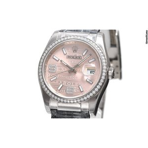 Rolex [NEW] Oyster Perpetual 36mm Datejust 116189 Pink Dial (List Price:HK$247,300)