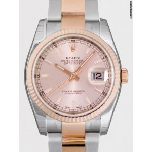 Rolex [NEW] Oyster Perpetual Datejust 116231-63601 Pink dial Index 36mm(Retail:HK$80,800)