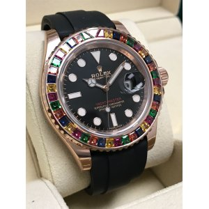 Rolex NEW-全新 116695 SATS Yacht-Master Diamond Bezel Watch