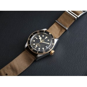 Tudor [NEW] Heritage Black Bay S&G 79733N Nato Strap Two-Tone Watch