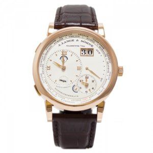 A Lange and Sohne 全新 116.032 G Lange 1 Time Zone 41.9mm Mens Watch