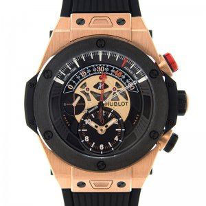 HUBLOT [全新] 413.OM.1128.RX Big Bang Bi Retrograde King Gold Black (Retail:CHF$36,900)