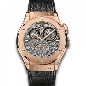 HUBLOT [全新] 506.OX.0180.LR CLASSIC FUSION TOURBILLON SKELETON (Retail: CHF$140,000)