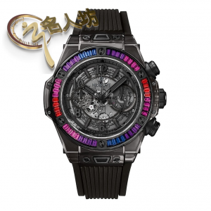 Hublot [NEW][LIMITED 50 PC] Big Bang 45mm Unico All Black Sapphire Galaxy 411.jb.4901.rt.4098