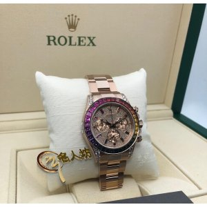 Rolex [NEW] 116595RBOW Daytona Rainbow Pave Diamond Watch