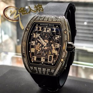 Richard Mille [NEW] RM 67-01 White Gold Med Set Diamonds Auto Extra Flat