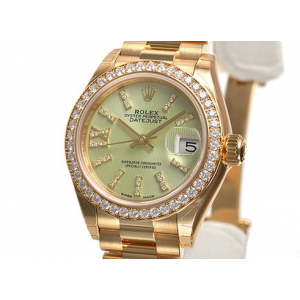 Rolex [NEW] Datejust President Ladies Green Guilloche Dial 279138 (Retail:HK$281,500)