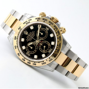 Rolex [NEW] 116503G Black Dial with Diamonds Cosmograph Daytona Watch