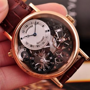 Breguet [NEW] Tradition GMT Manual Skeletal Dial 7067BR/G1/9W6 (Retail:CHF 36200)