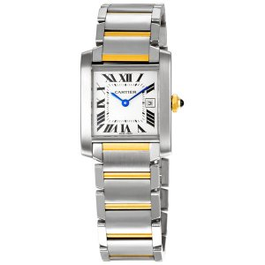 CARTIER [NEW] Tank Francaise Yellow Gold and Steel Ladies W51012Q4 (Retail:HK$52,000)