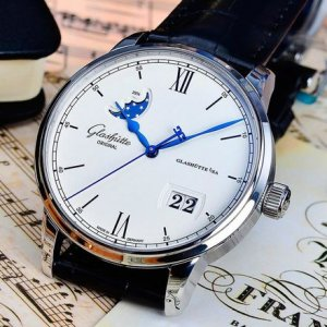 Glashutte Original [NEW] 1-36-04-01-02-30 Senator Excellence Panorama Date Moonphase 40mm Mens Watch
