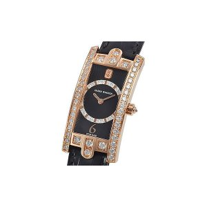 Harry Winston [NEW] Avenue C Art Deco quartz 18K rose gold timepieceblack dark partially AVCQHM19RR031