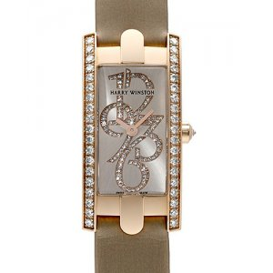 Harry Winston [NEW] Avenue C Mini special edition quartz 18K rose gold timepiece white light partially AVCQHM16RR034